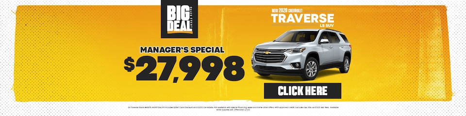 New 2020 Chevrolet Traverse Sale