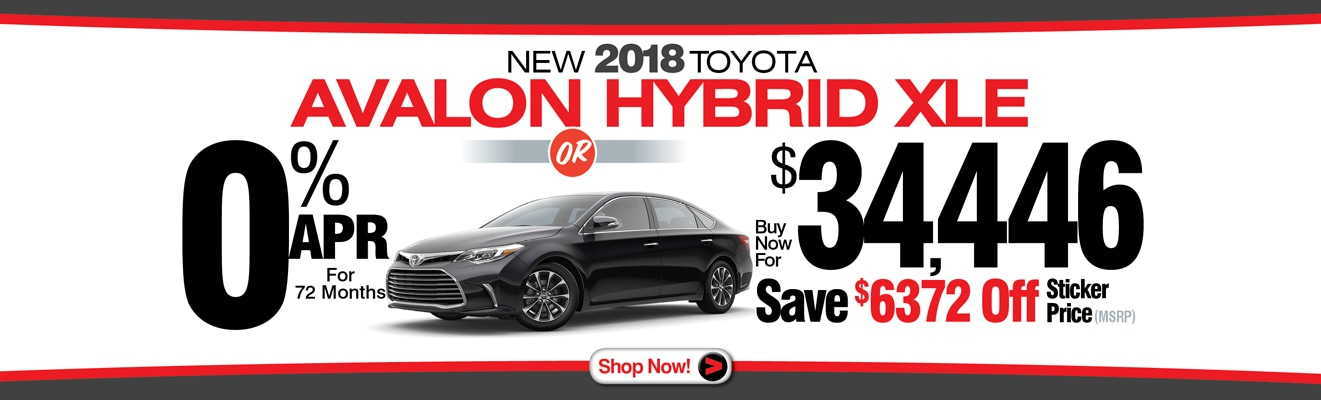 2018 TOYOTA AVALON SPECIALS From Charles Maund Toyota | Toyota Dealer