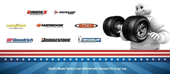 Tire For Less >> Order Tires From Charles Maund Toyota For Less Than Discount