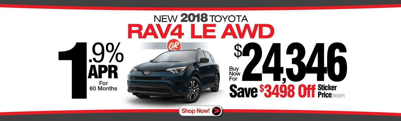 2018 TOYOTA RAV4 SPECIALS From Charles Maund Toyota | Austin Toyota Dealer