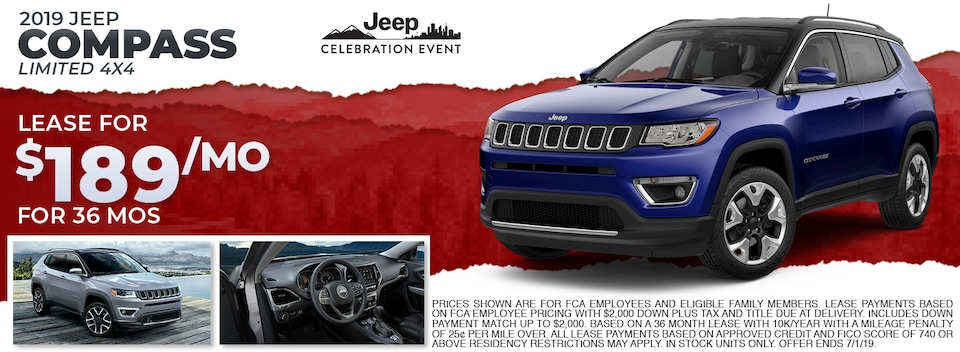 2019 Jeep Compass Limited 4x4 Lease Special