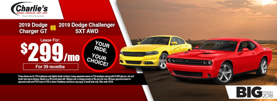 2019 Dodge Charger or Challenger Special