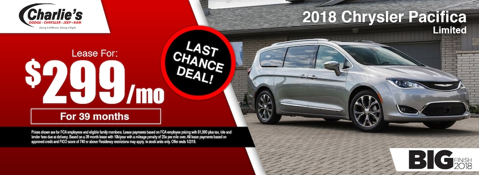 2018 Chrysler Pacifica Limited Special