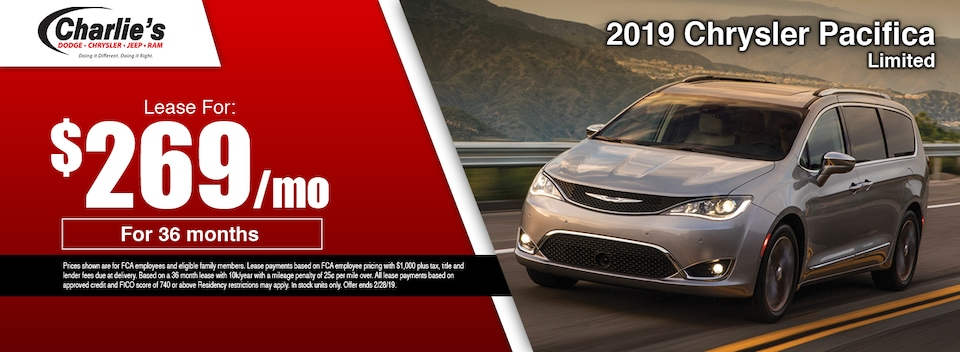 2019 Chrysler Pacifica Limited Lease Special