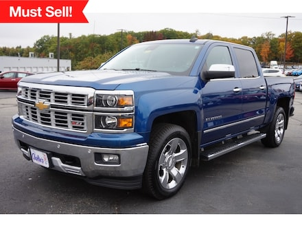 Featured Used 2015 Chevrolet Silverado 1500 LTZ Truck Crew Cab for Sale near Waterville, ME