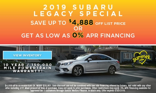 2019 Subaru Legacy Special