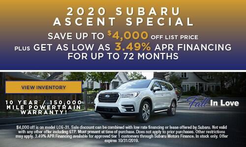 2020 Subaru Ascent Special