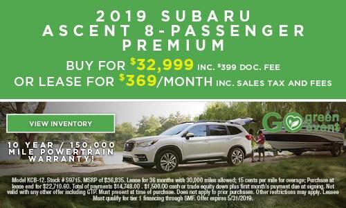 2019 Subaru Ascent 8-Passenger Premium
