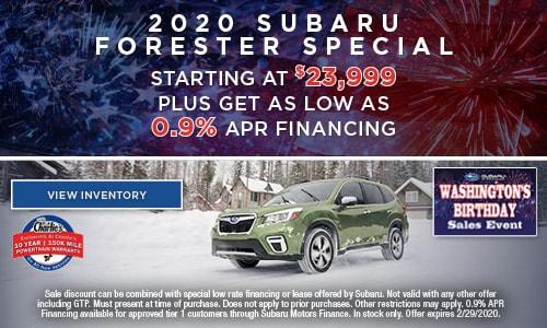 2020 Subaru Forester Special