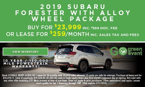 2019 Subaru Forester with Alloy Wheel Package