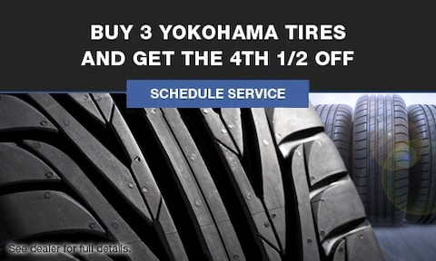 Buy 3 Yokohama Tires and get the 4th 1/2 Off