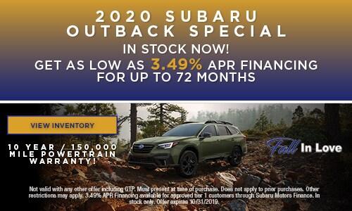 2020 Subaru Outback Special