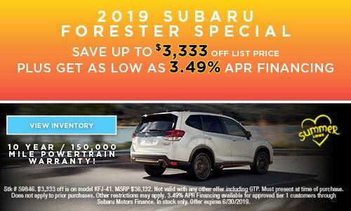 2019 Subaru Forester Special