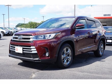 Featured Used 2019 Toyota Highlander Limited Platinum V6 SUV for Sale near Waterville, ME