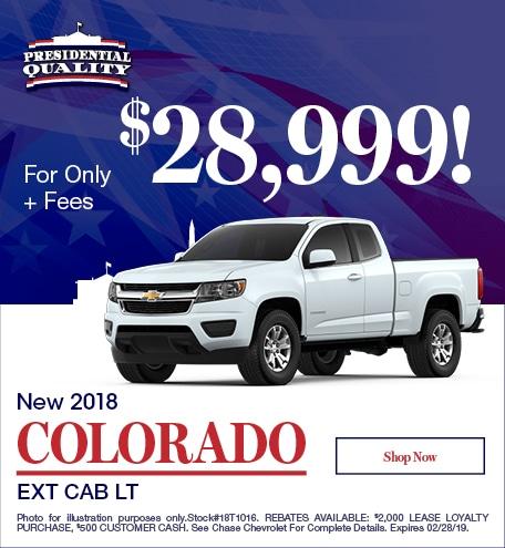 New 2018 Colorado Ext Cab LT