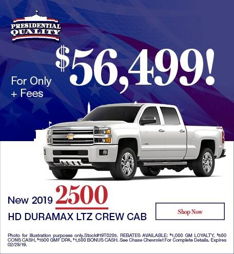 New 2019 2500 HD Duramax LTZ Crew Cab