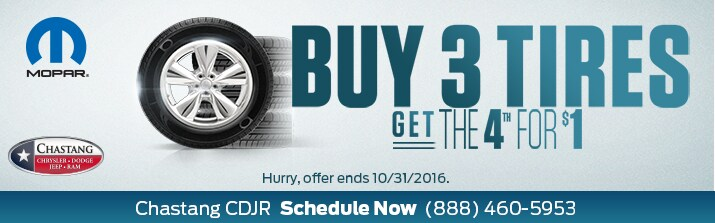 BUY 3 TIRES - GET THE 4TH FOR $1 Image