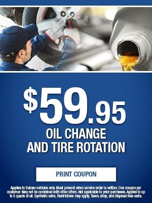 $59.95 Oil Change & Tire Rotation