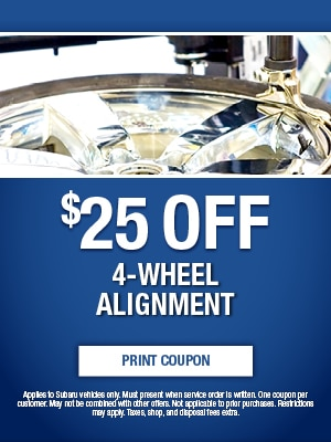 $25 Off 4-Wheel Alignment