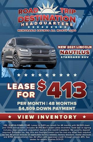 New 2021 Lincoln Nautilus Standard Models