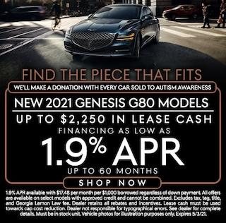 New 2021 Genesis G80 Models