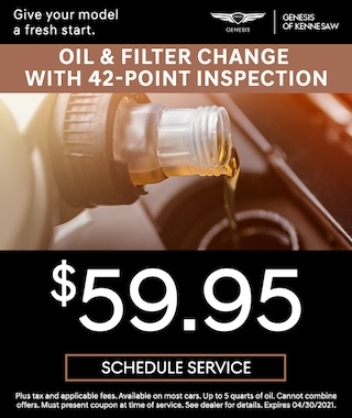 Oil and Filter Change Special in Kennesaw GA