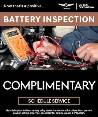 Battery Inspection in Kennesaw GA