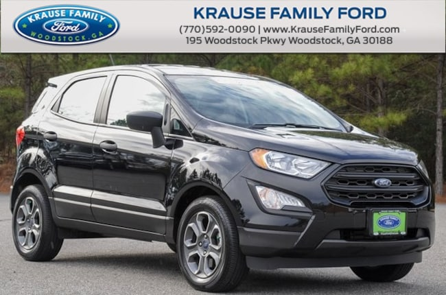 Certified Used 2018 Ford EcoSport S Turbocharged, Sync w/Applink, Rear View Camera SUV in Woodstock GA