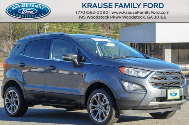 Certified Used 2018 Ford EcoSport Titanium Heated Leather, Power Moonroof, Sync3 SUV in Woodstock GA