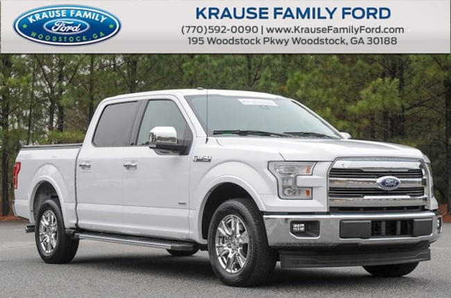 Certified Used 2017 Ford F-150 Lariat Chrome, Max Trailer Tow Pkgs, Sync Connect Truck in Woodstock GA