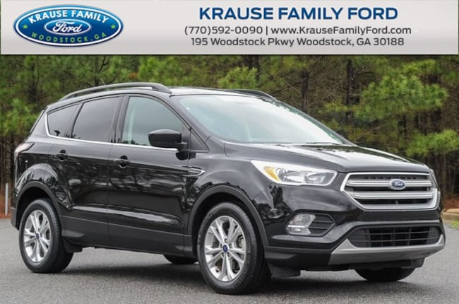 Certified Used 2018 Ford Escape SE Turbocharged, HTD Cloth Seats, Pano Vista Roof, SUV in Woodstock GA