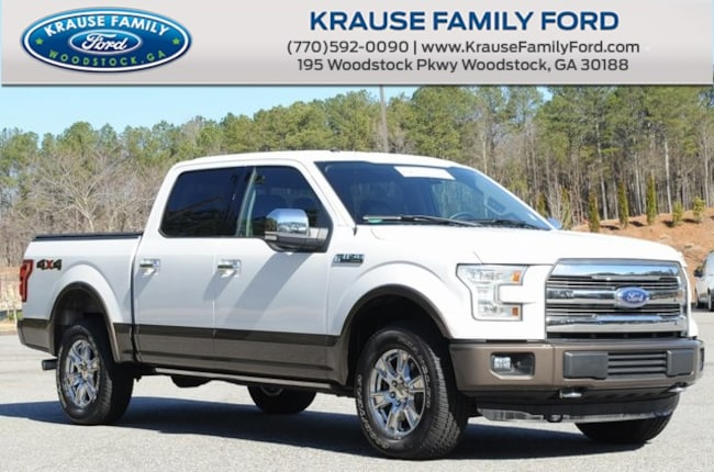 Certified Used 2015 Ford F-150 Lariat Chrome App., Trailer Tow, 7000# Payload Pkg Truck in Woodstock GA