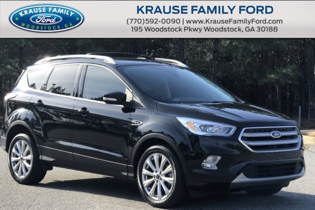 Certified Used 2017 Ford Escape Titanium Low Miles, Navi, Sync3, Roof Rack SUV in Woodstock GA