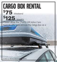 Cargo Box Rental Special