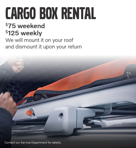 April Cargo Box Rental Special