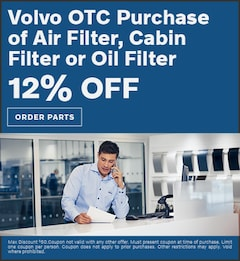 Volvo OTC Purchase of Air Filter, Cabin Filter or Oil Filter