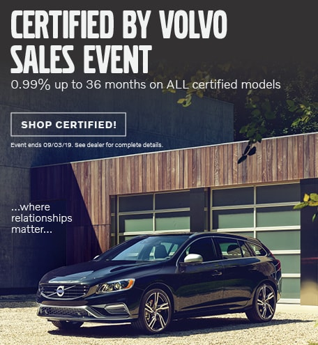 July Certified By Volvo Sales Event
