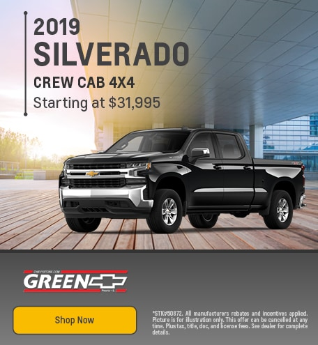 2019 Chevy Silverado Crew Cab Offer - August