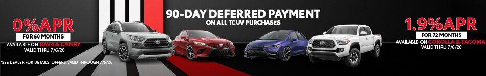 Toyota Certified Vehicles Offers