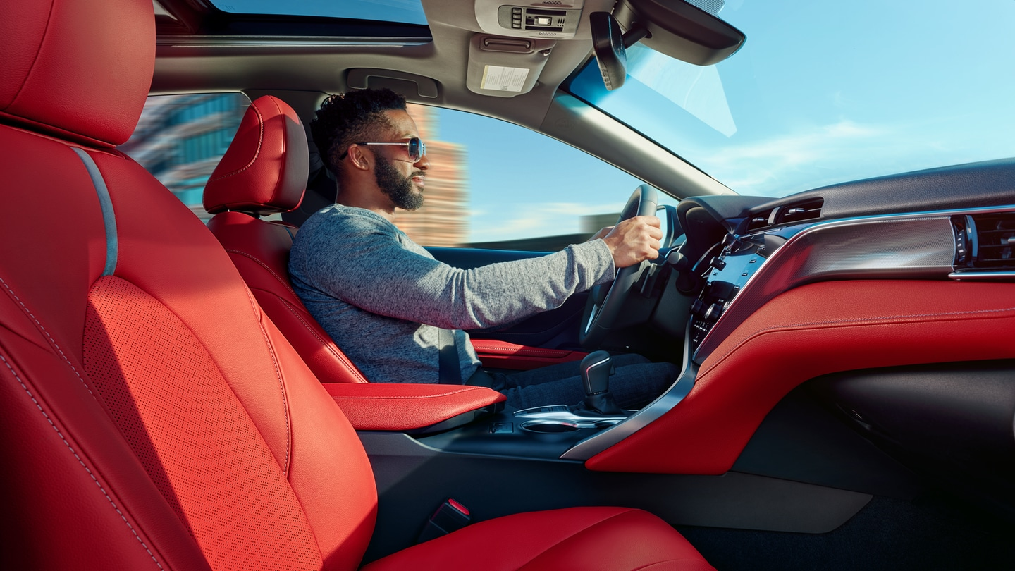 2018 Toyota Camry red interior