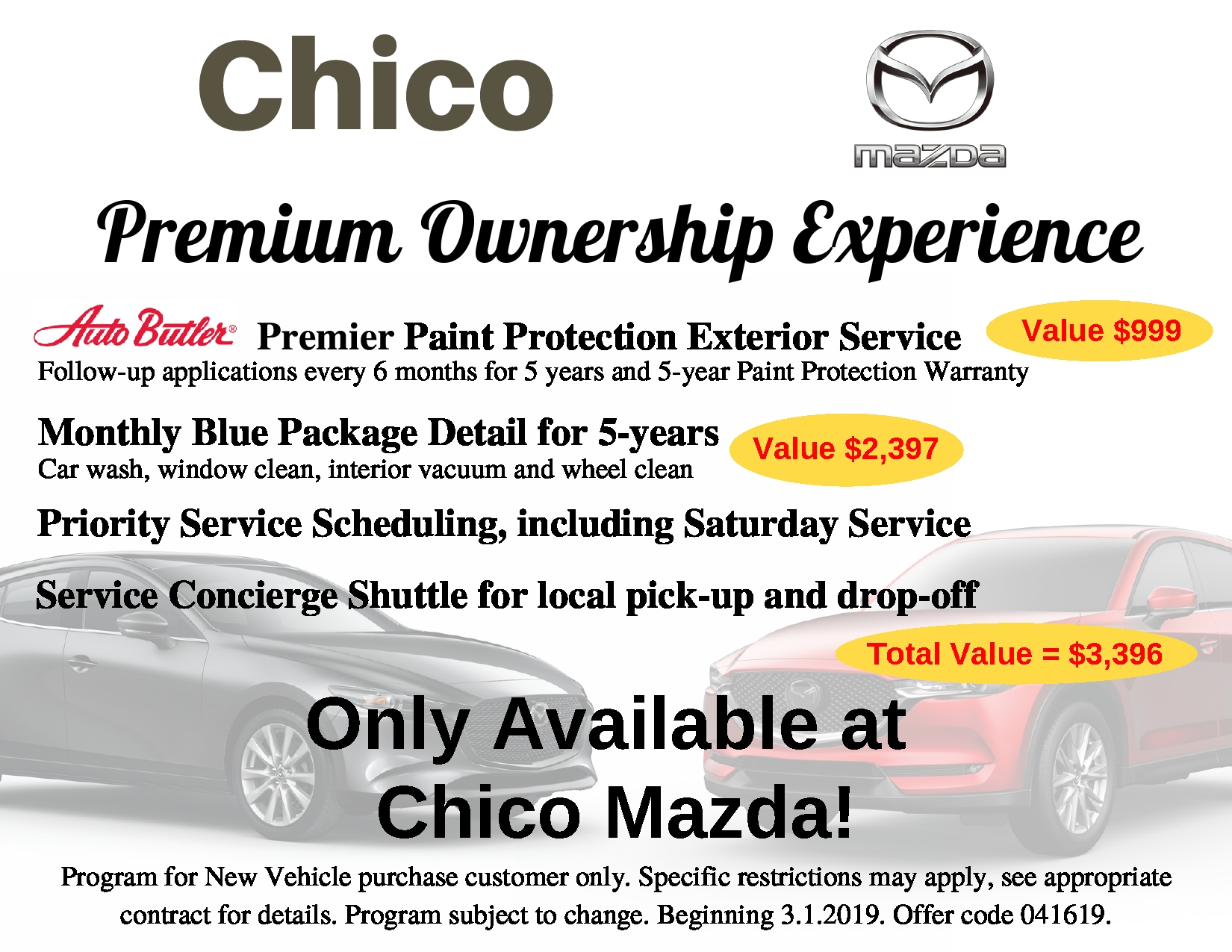 Car Wash Chico >> Premium Ownership Experience Chico Mazda