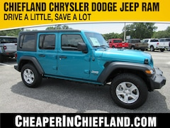 New 2020 Jeep Wrangler UNLIMITED SPORT S 4X4 Sport Utility 20S206 1C4HJXDG4LW325848 Chiefland, near Gainesville