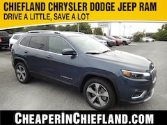 New 2019 Jeep Cherokee LIMITED FWD Sport Utility 19R299 1C4PJLDB8KD443890 Chiefland, near Gainesville