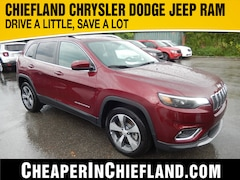 New 2019 Jeep Cherokee LIMITED FWD Sport Utility 19R302 1C4PJLDBXKD443891 Chiefland, near Gainesville