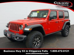 new 2019 Jeep Wrangler UNLIMITED RUBICON 4X4 Sport Utility 1C4HJXFG1KW604167 for sale near Eau Claire at Chilson Chrysler Dodge Jeep Ram FIAT