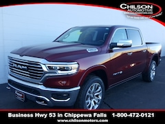 new 2020 Ram 1500 LARAMIE LONGHORN CREW CAB 4X4 5'7 BOX Crew Cab 1C6SRFKT0LN304436 for sale near Eau Claire at Chilson Chrysler Dodge Jeep Ram FIAT