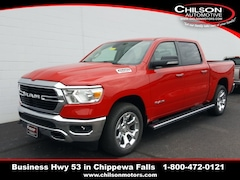 new 2020 Ram 1500 BIG HORN CREW CAB 4X4 5'7 BOX Crew Cab 1C6SRFFT5LN201958 for sale near Eau Claire at Chilson Chrysler Dodge Jeep Ram FIAT