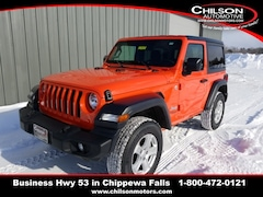 New 2019 Jeep Wrangler SPORT S 4X4 Sport Utility 1C4GJXAG8KW579612 for sale near Eau Claire at Chilson Chrysler Dodge Jeep Ram FIAT