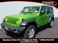 new 2020 Jeep Wrangler UNLIMITED SPORT S 4X4 Sport Utility 1C4HJXDN7LW123598 for sale near Eau Claire at Chilson Chrysler Dodge Jeep Ram FIAT