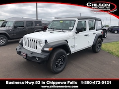 New 2018 Jeep Wrangler UNLIMITED SPORT 4X4 Sport Utility for sale near Eau Claire at Chilson Chrysler Dodge Jeep Ram FIAT